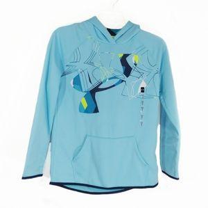Under Armour ligh blue hoodie sweatshirt size Y XL